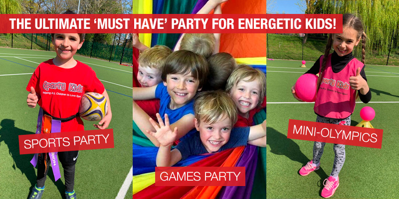 Sporty Kidz Birthday Parties for boys and girls aged 3 - 12 years old